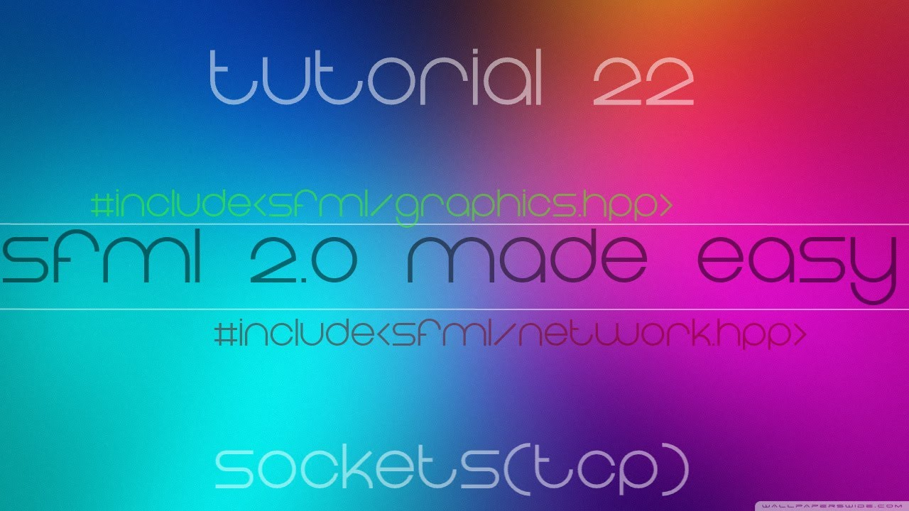 C++ Sfml 2 0 Made Easy Tutorial 22 - Sockets(TCP) by CodingMadeEasy