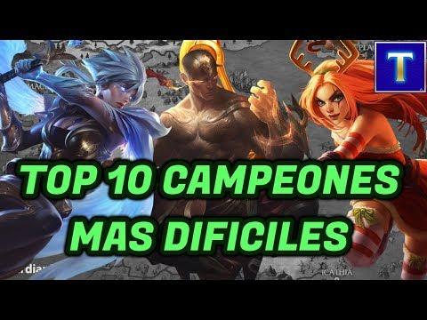 Top 10 Campeones más Difíciles del League of Legends | TenYasha LOL thumbnail