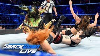HINDI - Charlotte Flair, Becky Lynch & Naomi vs. The Riott Squad: SmackDown LIVE, 20 February, 2018