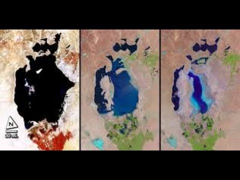 The 4th Largest Lake In The World Is DRYING UP!  Aral Sea is Shrinking!
