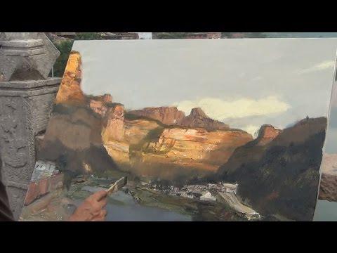 Oil Landscape Painting Demonstration
