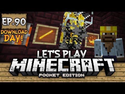 Survival Let's Play Ep. 90 (DD) - EPIC BLAZE XP FARM!!! - Minecraft PE (Pocket Edition)