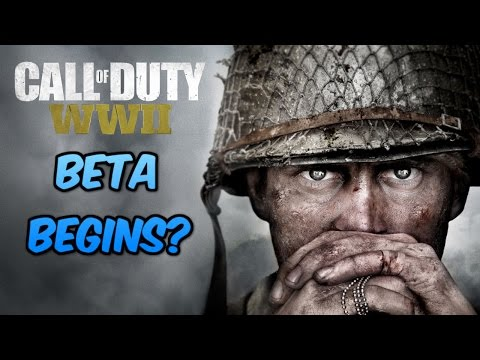 WHEN IS THE CALL OF DUTY WORLD WAR 2 BETA?