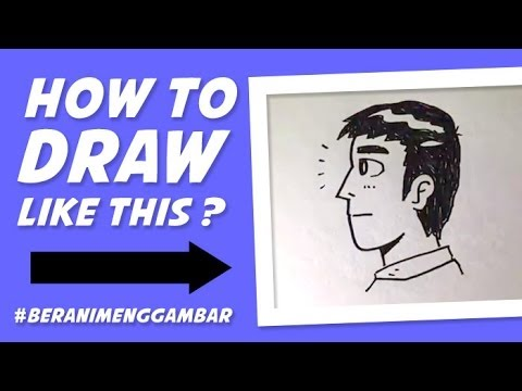 how to draw a guy side view