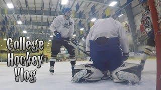 College Hockey Vlog Mic'd Ep 12: Prep For 1st Start | GoPro Hockey