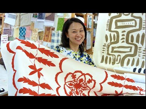 Creative collaboration in the studio with textile designer Peter Fasano