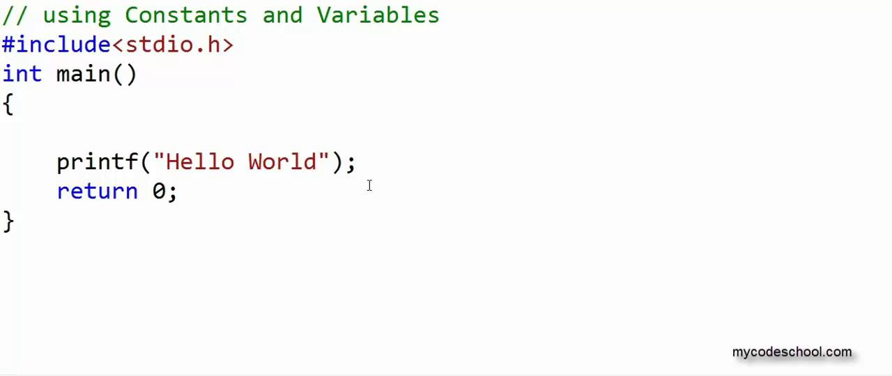 Data types, Constants and Variables - C Programming Tutorial 05 ...