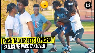 Trash Talker Got Physical..So They Taught Him A Lesson! Ballislife South Park Takeover