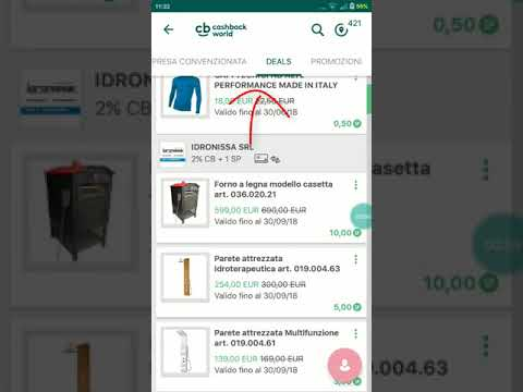 Come riscuotere gli Shopping Point Deals CASHBACK WORLD?
