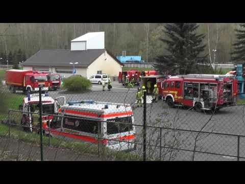 ABC Katastrophenschutz-Übung der Gefahrgut-Züge des Vogtlandkreis