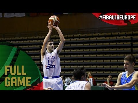 Greece v Ukraine - Full Game - Quarter-Final - FIBA U16 European Championship 2017 - DIV B