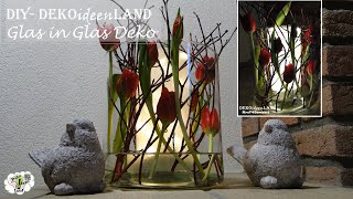 DIY Spring Floral Arrangement/ Design with Tulips and Led lights/ Vase Centerpiece DekoideenLand