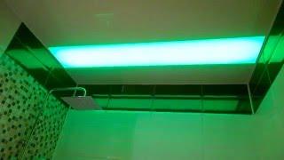 Натяжной потолок  с подсветкой в ванной(, 2016-02-08T19:38:40.000Z)