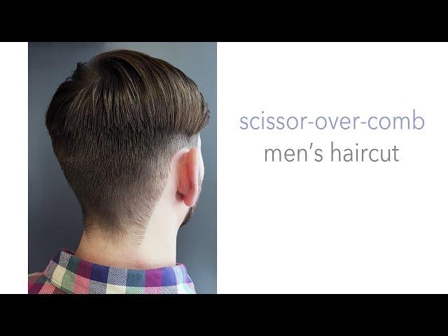 Scissor Over Comb Men S Haircut Volume Chat