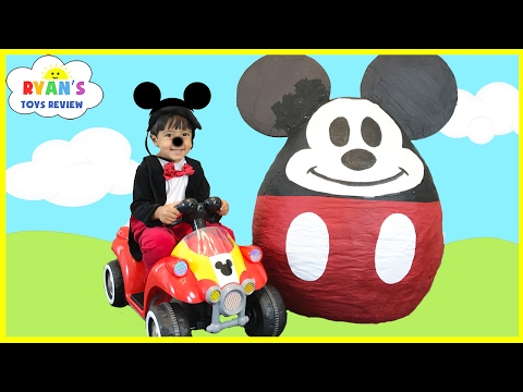 Mickey Mouse Clubhouse GIANT EGG SURPRISE OPENING Disney Junior Toys Kids Video World Biggest