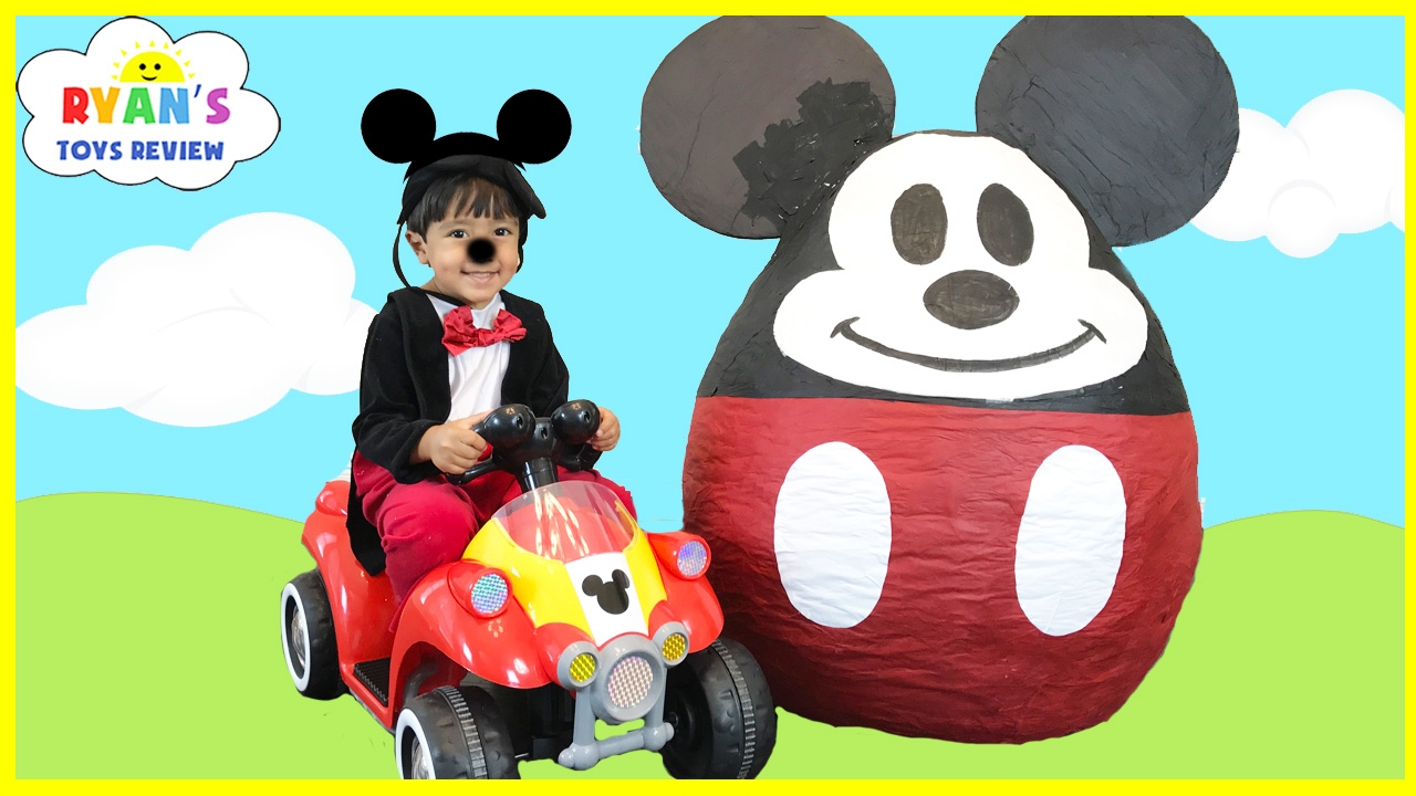 Mickey Mouse Clubhouse Giant Egg Surprise Opening Disney Junior