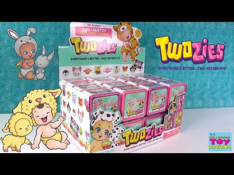 Twozies Baby & Pet Blind Bag Box Opening Unboxing Toy Review | PSToyReviews