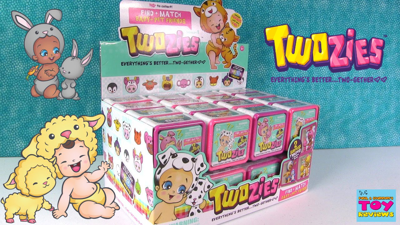 Twozies Baby Amp Pet Blind Bag Box Opening Unboxing Toy
