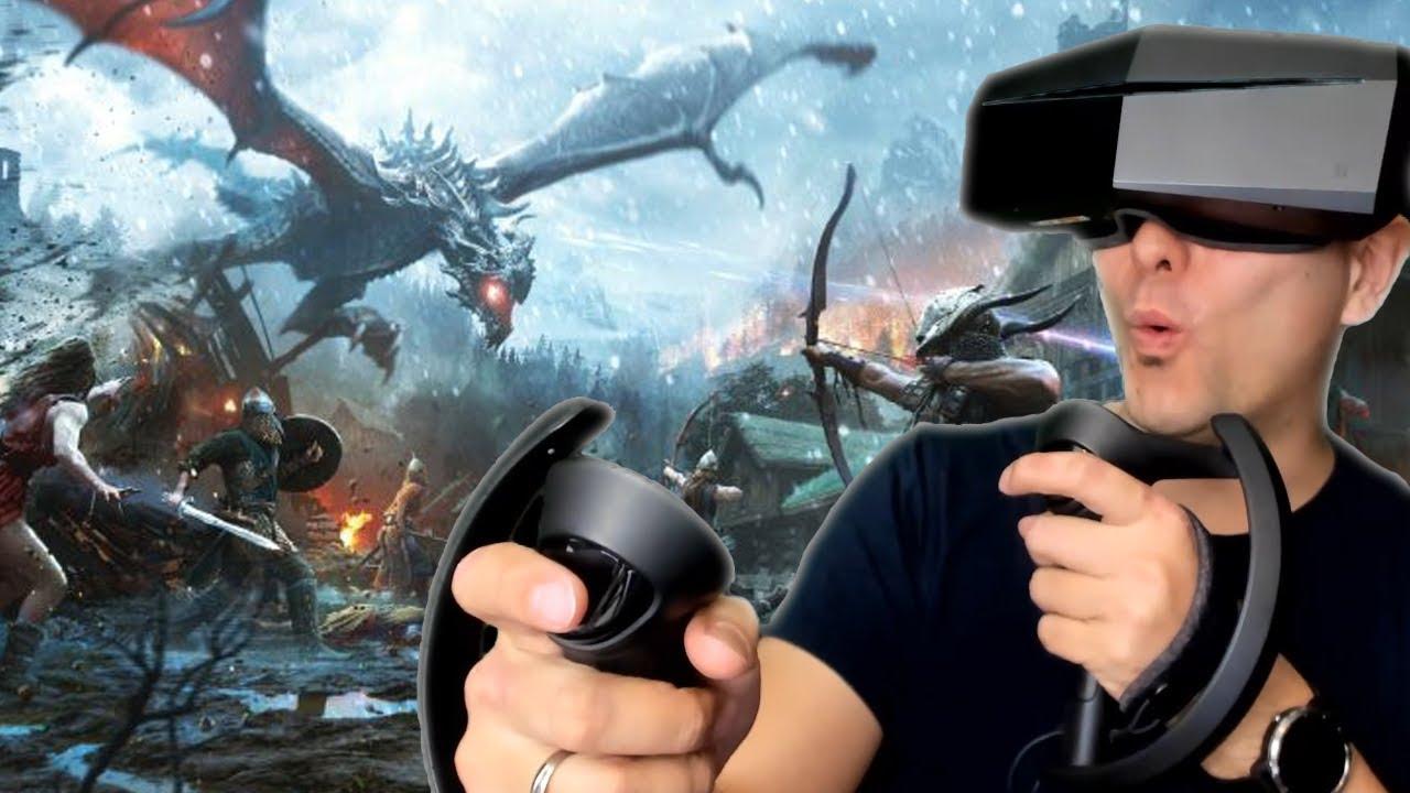 Most Immersive Skyrim VR Setup In 2019: Valve Knuckles, Pimax 5K Plus &  Cybershoes!