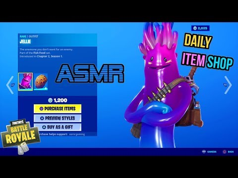 ASMR | Fortnite Jellie Skin Is Back! Daily Item Shop Update 🎮🎧 Relaxing Whispering 😴💤