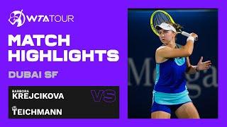 Barbora Krejcikova vs. Jil Teichmann   2021 Dubai Semifinals   WTA Match Highlights
