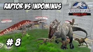 RAPTOR SQUAD VS INDOMINUS REX!!!! // JURASSIC WORLD 2 OPERATION GENESIS #8 - ESPAÑOL HD