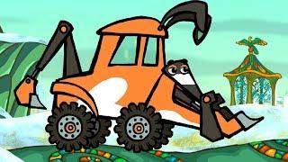 Котяткины машинки - Кто же строит зоопарк + Машины-строители - Песни для детей