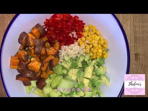 Easy Sweet potato | Avocado | Salad – Rainbow sweet potato salad