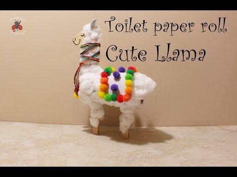 Toilet paper roll Cute Llama