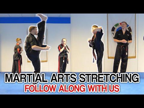 Martial Arts Dynamic Stretching | FOLLOW ALONG & STRETCH WITH US (Get High Kicks & Splits)