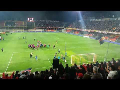 Foggia-Cesena 2-1 L'esultanza della Curva Sud a fine gara
