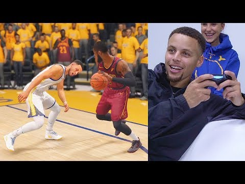 Stephen Curry Ankle Broken and Crossed Over By Kyrie Irving While Playing NBA LIVE 18 GAMEPLAY