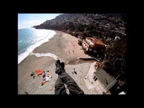 Parapente Roquebrune Cap Martin Monaco GoPro HD