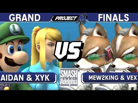 Project M - Aidan & XYK vs Mew2King & Vex - SMASHADELPHIA 2017 Grand Finals