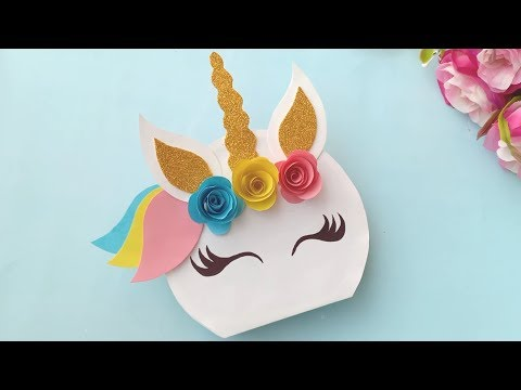 Unicorn Card 🦄 / Unicorn Pop Up Birthday Card / Handmade easy card Tutorial