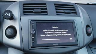 How To UPDATE Sony XAV-AX100!!!