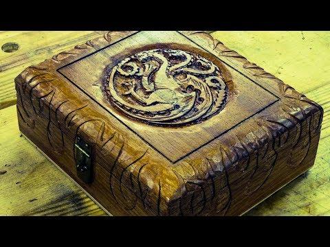 Carving a Cigar Box - House Targaryen - Game of Thrones Inspired