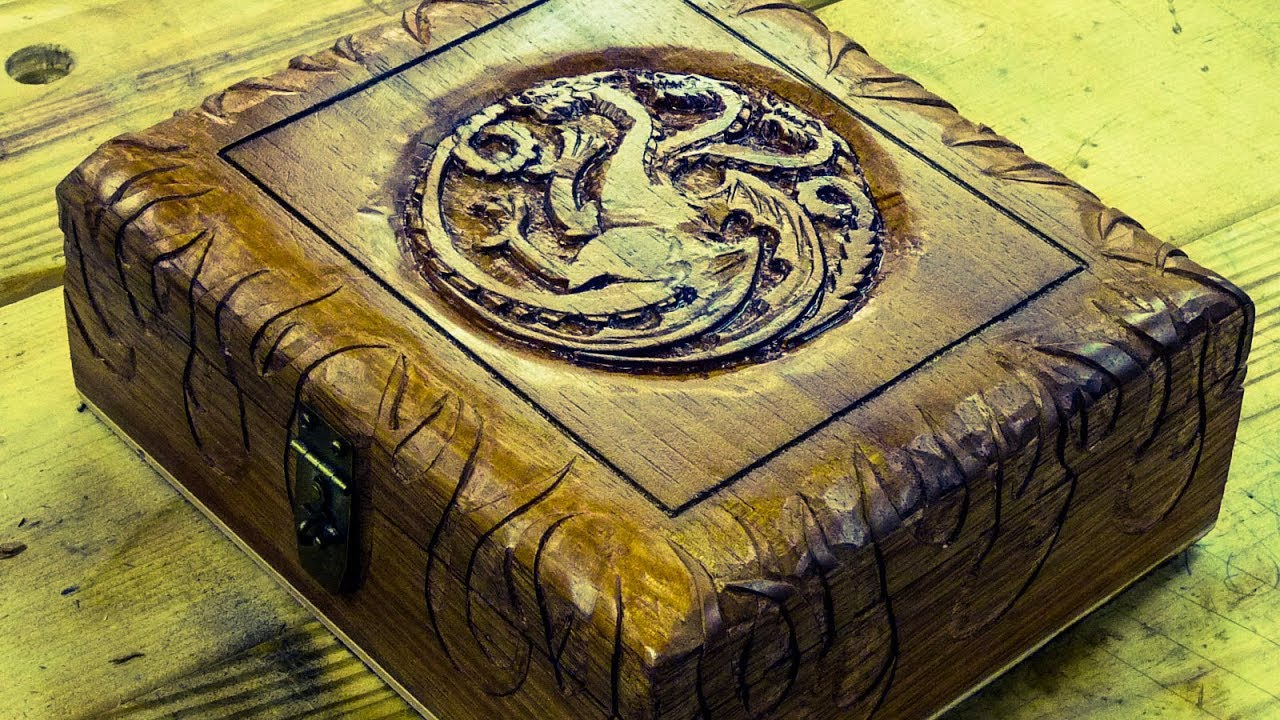Carving a cigar box house targaryen game of thrones inspired