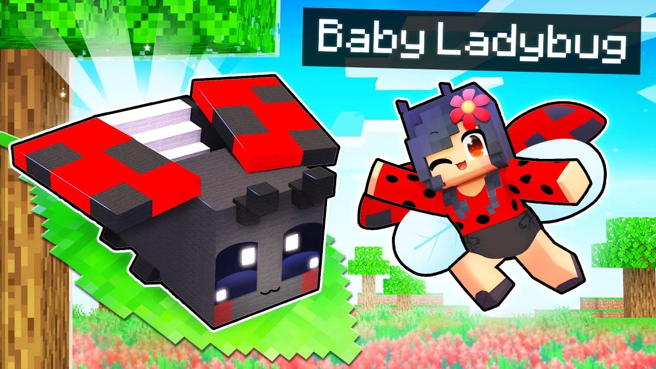 My BABY Ladybug's SECRET Minecraft Home!