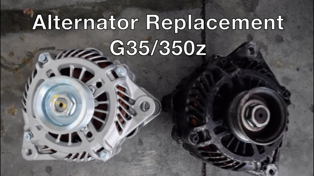 Alternator Replacement Infiniti G35 350z How To