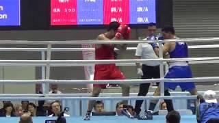 H30 国体 決勝 成年 LH級 但馬ミツロ 対 ジュリアンジョンソン ボクシング
