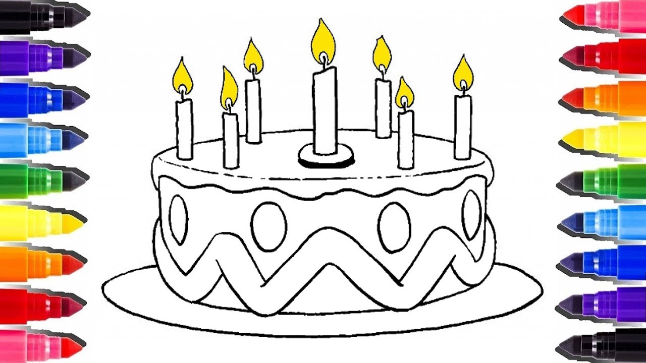 Coloriage Gateau Danniversaire 8 Ans.Colorier Un Gateau D Anniversaire Cake Coloring Pages And How To