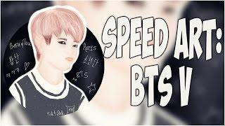 SPEED ART - V (Kim Tae Hyung /김태형) | BTS | Bangtan Boys | 방탄소년단 | by ToRi MaRtini