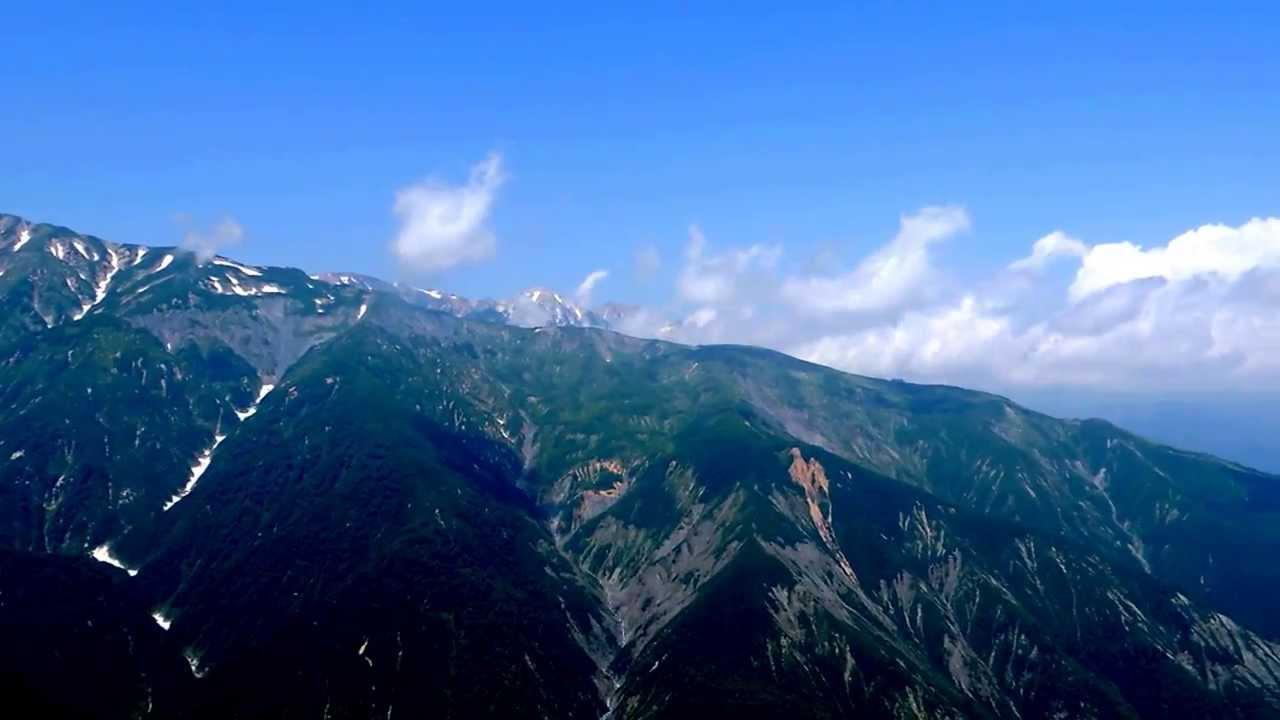 白馬五竜 地蔵の頭より五竜岳、唐松岳、白馬三山、八方尾根を望む