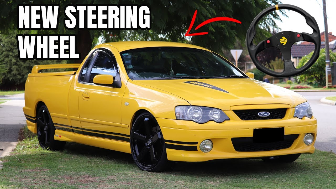 Xr8 Gets An Upgrade Installing A New Steering Wheel Ford Falcon