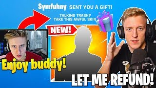 Symfuhny *GIFTS* Tfue WORST SKIN FOR TRASH TALKING HIM! - Fortnite Best Moments