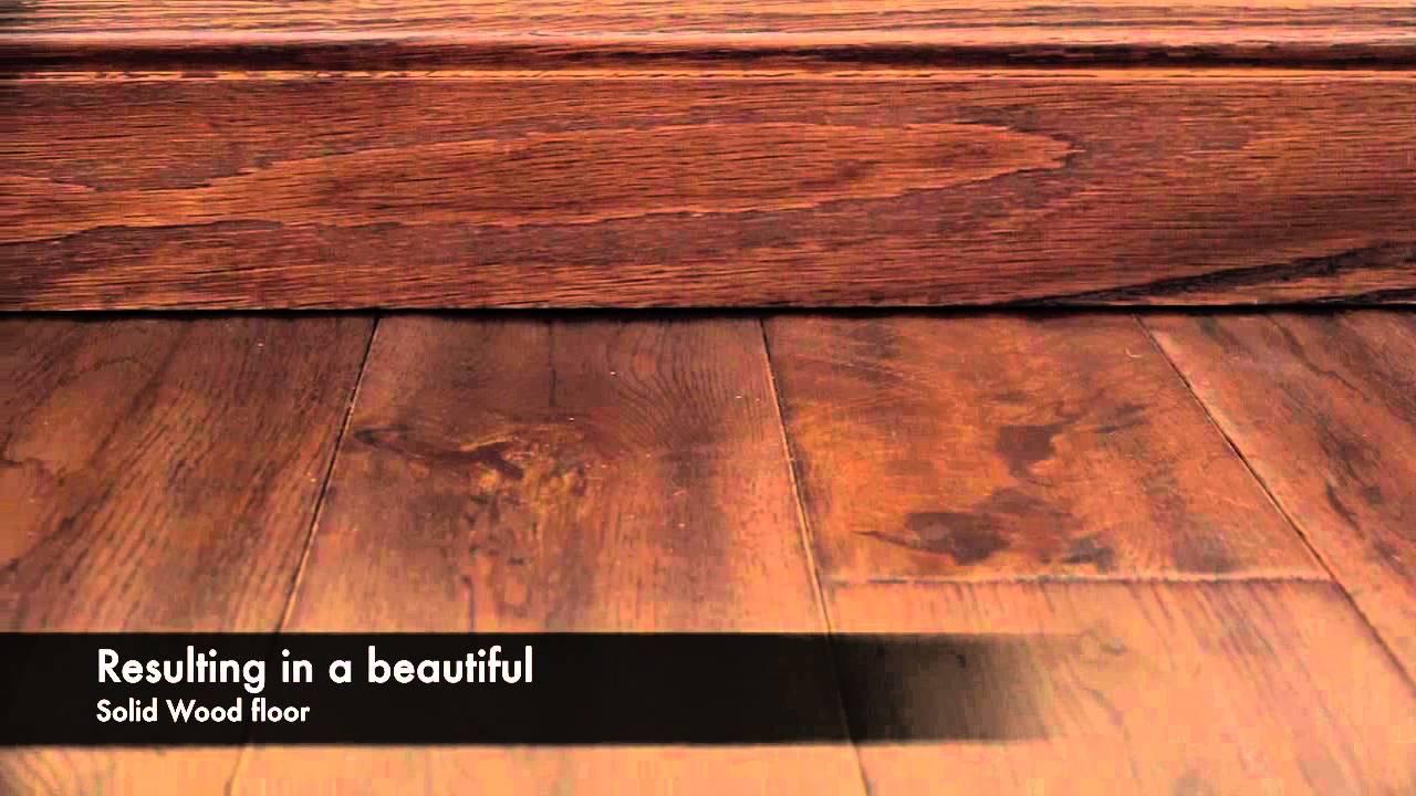 Handscraped Victorian Oak Solid Wood Flooring Youtube