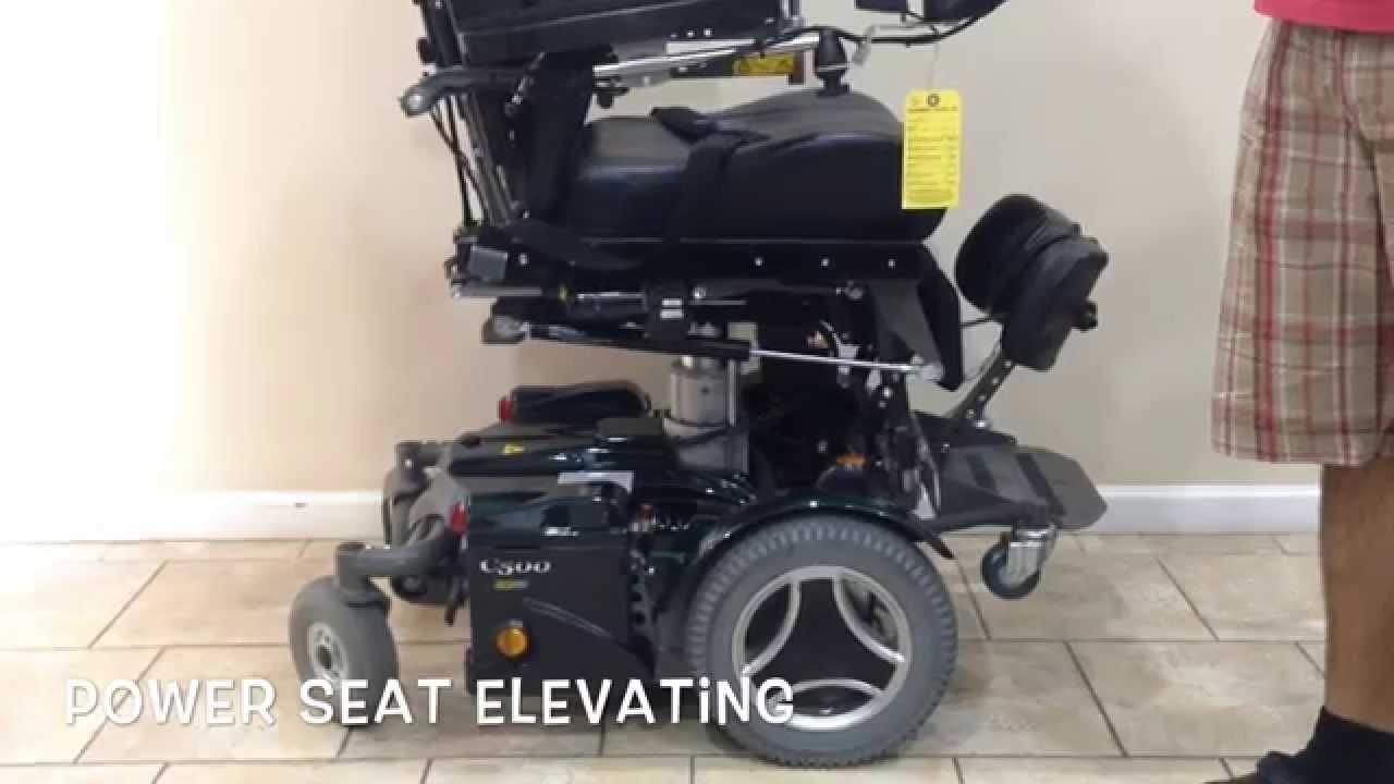 Permobil C500 VS Rehab Power Chair   YouTube