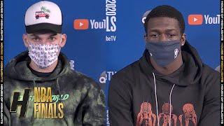 Tyler Herro & Kendrick Nunn Postgame Interview - Game 2   Heat vs Lakers   Oct 2, 2020 NBA Finals