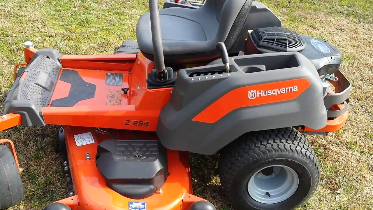 HUSQVARNA Z254 ZERO TURN MOWER REVIEW